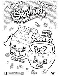Shopkins Coloring Page 5 Pages