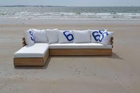 construire canapé d angle canapé en d angle modulable en chêne massif et voiles de bateaux