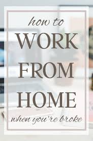 How to Work from Home When You re Starting with Nothing