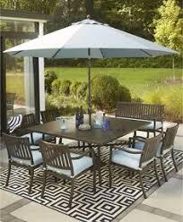 Macys Patio Dining Sets by New Wayland Outdoor Aluminum 8 Pc Dining Set 64