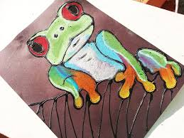 Rainforest Tree Frog Art Project