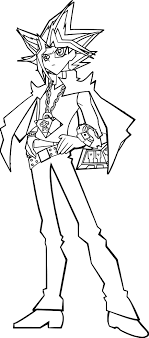 Yu Gi Oh Style Coloring Page