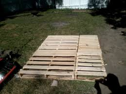 Pallet Wood Bed Frame Queen Size