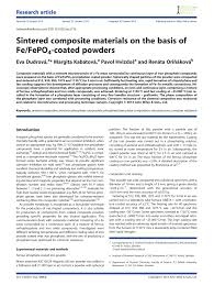 PDF Sintered Composite Materials On The Basis Of FeFePO4coated