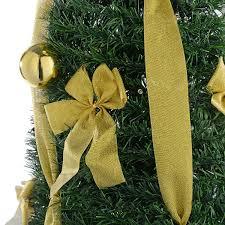 Pre Lit Pop Up Christmas Tree Uk by Werchristmas Pre Lit Pop Up Christmas Tree With Ribbon And Bauble
