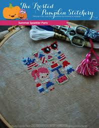The Frosted Pumpkin Stitchery Facebook by 11 Summertime Inspired Cross Stitch Patterns