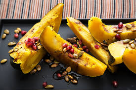 Roasted Unsalted Pumpkin Seeds Nutrition Facts by Roasted Acorn Squash With Pumpkin Seeds And Pomegranate The