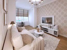 beige sofa im wohnzimmer in einem modernen stil tapeten an