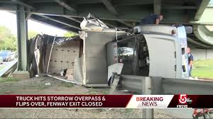 100 Truck Hits Overpass Moving Truck Hits Storrow Drive Overpass And Flips Over