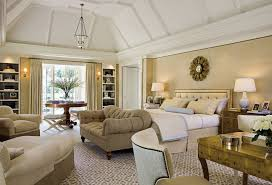 Colonial Revival Home Classic Interior Decor Luxurious Master Bedroom With Modern Style