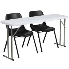 18'' X 60'' Plastic Folding Training Table Set With 2 Black Plastic ... Office Tables And Chairs Traing Room Fniture Kobe Table Zeng Stack Black The Place 1 Cubicles Plus Seminar In Singapore Eptecstore Designer Mobile Folding 10w00dx750h Rectangular Modular Conference Smart Buy Rentals Arthur P Ohara Inc 18 X 60 Plastic Set With 2 Regency Seating Woodmetal Newest 84 W Hendrix Chair Finish Cubes2u Teknion 2x5 Contoured W Height Adjustable Richmond Interiors