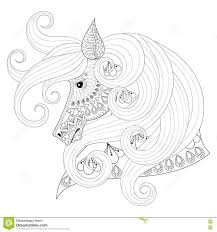 Royalty Free Vector Download Hand Drawn Zentangle Ornamental Horse For Adult Coloring Pages