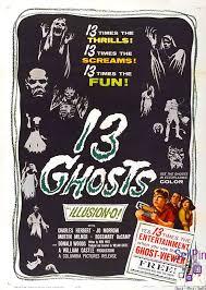 13 Ghosts Columbia One Sheet X Horror Starring Charles Herbert Jo Morrow