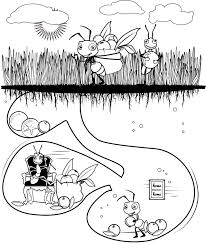Ant Coloring Pages And Classroom Activities Train Track Ants Page Of