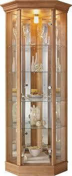 glass door display cabinet light oak effect stuff to