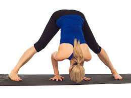 Yoga Standing Straddle Forward Bend