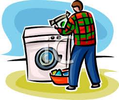 Dishwasher Clipart Animated Man Doing Laundry Using Freeuse