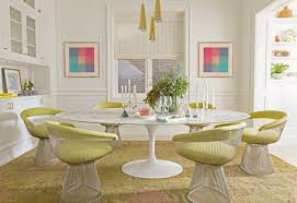There Are Few Pieces More Iconic In Mid Century Modern Design Than The Eero Saarinen Table From 50s And Warren Platner Chair 60s Says