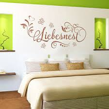 details zu wandtattoo liebesnest schlafzimmer paare liebe blumen geschenk partner deko