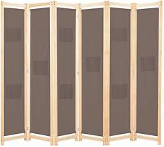 ubaymax paravent raumteiler trennwand 6 teiliger aus tannenholz faltbar holz spalier raumtrenner wandschirme sichtschutz für wohnung wohnzimmer