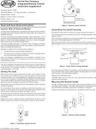 Hunter Ceiling Fan Manual Pdf by Tx27 Ceiling Fan Remote Control Transmitter User Manual 41475 01