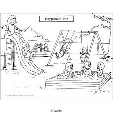 Playground Clipart Playground Black And White With Regard To