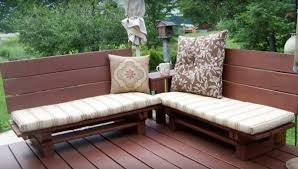 Pallets Recycle Into Garden Furniture Decking