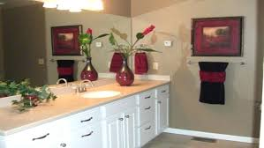 Half Bathroom Wall Decor Ideas Simple Awesome Guest Bathrooms Brown Colored Decorating Towel
