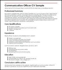 Communications Skills Resume Communication Template