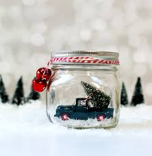 Mason Jar Snow Globes: Vintage Cars & Trucks - Mason Jar Crafts Love