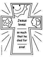 Easter Cross Coloring Page Free Download Lent