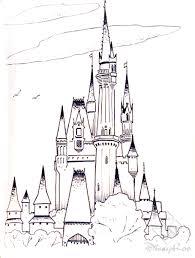 Disney Castle Pumpkin Carving Patterns by Frozen Cinderella Castle Free Printable Castle Coloring Pages