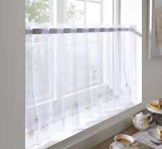 White Sheer Voile Curtains by Sheer Voile Cafe Panel Kitchen Bathroom Ready Made Tier Valance