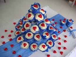 Awe Inspiring Wedding Royal Blue And Red Theme 2 Cupcakes By K Flickr Ideas Alliswelus