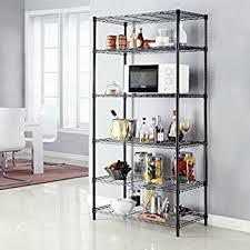 amazon com langria 5 tier storage rack storage shelf wire