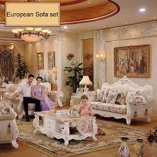webetop wohnzimmer sofa set europa stil farbic luxus möbel holzschnitzerei sofa