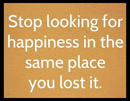 Wood Sign Rustic Funny Stop Looking For Happiness In The Place You Lost It