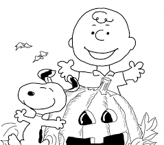 Halloween Color Pages Charlie Brown Coloring Page Free Printable Drawing