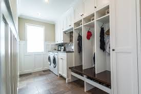Mudroom Laundry Room Ideas Craftsman With Side By White Cabinet