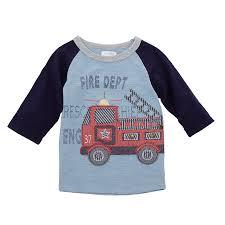 100 Fire Truck Applique Truck TShirt By Mud Pie