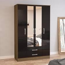 Pretty 4 Door Wardrobe Interior Designs Design Black Ideas