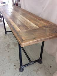 Make A Reclaimed Wood Desk by Best 20 Reclaimed Wood Dining Table Ideas On Pinterest Rustic