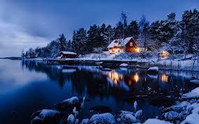 Cabin The Lake Shore WallDevil