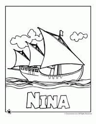Nina Ship Coloring Page