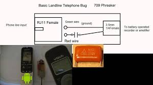 Landline Phone Bug wire tapping