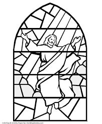 Stained Glass Jesus Coloring Page