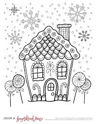 Download Coloring Pages Gingerbread House Color Page Houses