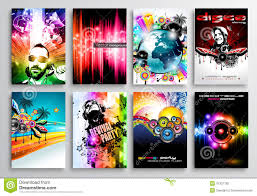 Set Of Club Flyer Design Party Poster Templates