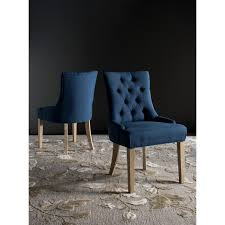 100 Dining Chairs For Obese Shop Safavieh En Vogue Abby Steel Blue Set Of