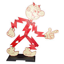 Reddy Kilowatt Character Lamp by Reddy Kilowatt Original Advertisement Wood Inspiration Pinterest